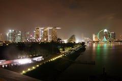 Markstein von Singapur Stockfoto