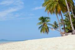 Markstein von Strand Baan Tai Koh Samui-Insel Stockbild