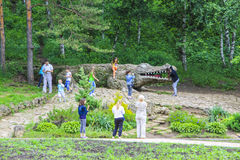 Marksteine des Parks in Kislovodsk Stockfoto