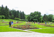 Marksteine des Parks in Kislovodsk Stockfotos