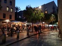 Marksteinstraße Evrope Barcelona lizenzfreie stockfotografie