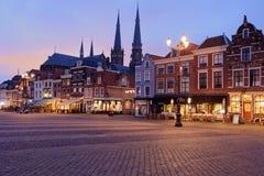 Markt广场在德尔福特,荷兰 库存照片