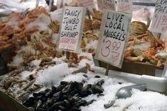 Markt 3 van zeevruchten Royalty-vrije Stock Foto