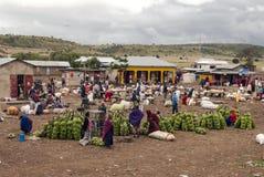 Markt in Arusha Stockbild