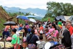 MARKT ASIENS THAILAND CHIANG MAI CHIANG DAO Lizenzfreies Stockfoto