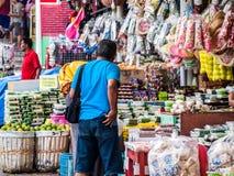 Markt auf cheng-ho Maske Indonesien Lizenzfreies Stockbild
