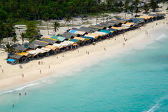 Markt auf Strand Stockbild