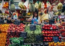 Markt in Barcelona stock afbeelding