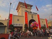 Markt Ben-Thanh, Ho Chi Minh Stadt lizenzfreie stockfotos