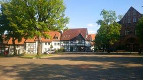 Markt Bielefeld Schildesche, Deutschland Stockbilder