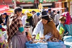 Markt, Bolivië Royalty-vrije Stock Foto's