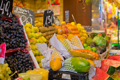 Markt Boqueria in Barcelona Stock Afbeelding
