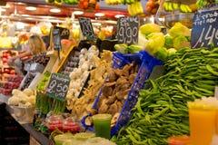 Markt Boqueria in Barcelona Royalty-vrije Stock Foto's