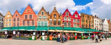 Markt in Bruges, Flanders, Belgium Stock Photos
