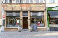 Markt in Centraal Vierkant - Brugge Royalty-vrije Stock Afbeelding