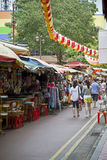 Markt in Chinatown, Singapore Stock Foto