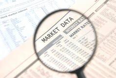 Markt-Daten Lizenzfreie Stockfotos