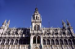Markt de Grote en Bruselas Imagenes de archivo