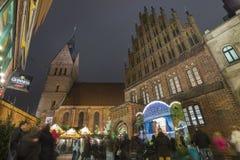 Markt de la Navidad en Hannover Fotos de archivo