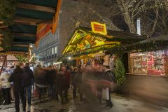 Markt de Noël à Hanovre Images libres de droits