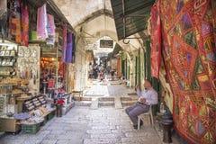 Markt in de oude stad Israël van Jeruzalem Stock Afbeeldingen