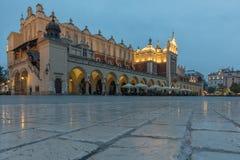 Markt, der Krakau errichtet Lizenzfreie Stockfotos