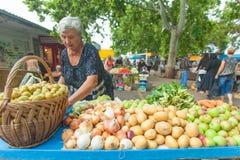 Markt in der Spalte Lizenzfreies Stockbild