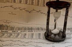 Markt, der Zeit 3 festsetzt Stockfotos