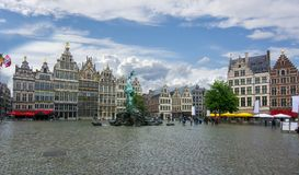 Markt di Grote del quadrato del mercato, Anversa, Belgio immagine stock