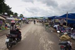 Markt in Dien Bien Phu stock fotografie