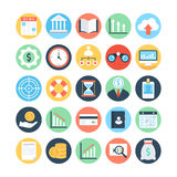 Markt en Economie Gekleurde Vectorpictogrammen 2 Royalty-vrije Stock Foto's