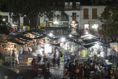 Markt en park van Jardin Royalty-vrije Stock Afbeeldingen