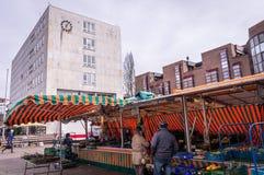 Markt am Gaggenau-Rathaus, Deutschland stockfoto