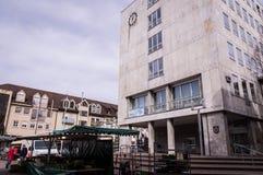 Markt am Gaggenau-Rathaus, Deutschland lizenzfreies stockbild