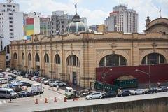 Markt gemeentelijk in de stad van Sao Paulo Stock Afbeeldingen