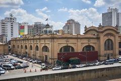 Markt gemeentelijk in de stad van Sao Paulo Stock Afbeelding