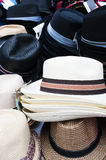 Markt-Hüte lizenzfreies stockfoto
