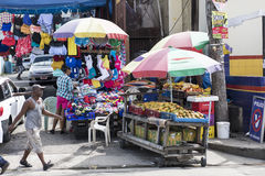 Markt klemmt in Jamaika fest Stockfotos