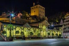 Markt-Kolonnade, Karlovy Vary; Tschechische Republik stockbilder
