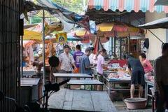 Markt-Landschaft in Thailand Lizenzfreie Stockfotos