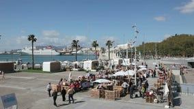 Markt in Malaga, Andalusia, Spanje stock footage