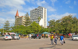 Markt Maputos Staurdays Stockbild