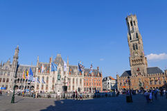 The Markt (Market Square) in Bruges, Belgium Stock Images