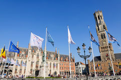 The Markt (Market Square) in Bruges, Belgium Stock Image