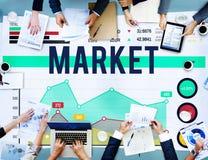 Markt-Marketing-Datenanalyse-Verbraucher-Konzept Stockfotografie