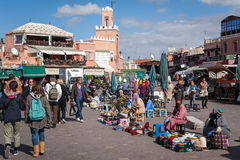 Markt Marrakesch Marokko Jemaa EL Fnaa Lizenzfreies Stockbild
