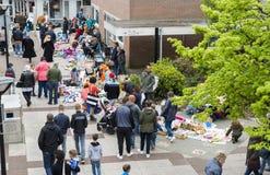 Markt mit benutztem Produkt auf kingsday Holland Lizenzfreie Stockfotografie