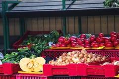 Markt mit Gemüse lettland Stockbild