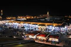 Markt nachts Quadrat Djemaa EL-Fna marrakesch marokko stockbild