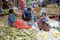 Markt Nyaung U, Bagan, Myanmar Lizenzfreie Stockfotos